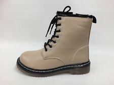 New Boxed Kids Unisex Nude/Beige Autumn Lace Up Boots Pick Size Infant 10 - UK 2