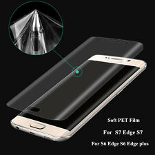 3D Curved Full Soft PET Screen Protector Cover Samsung Galaxy S6 S7 Edge S8 S8+