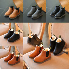 Cool Girls Boys Childrens Kids Winter Snow Martin Ankle Boots Leather Boots NEW