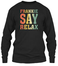 Frankie Say Relax Vintage 80s Music - Gildan Long Sleeve Tee T-Shirt