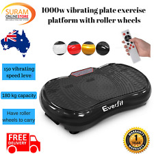 1000W Vibrating Plate Exercise Platform with Roller Wheels 150 Speed levels