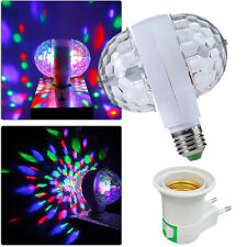 E27 6W Double-Headed Colorful Rotating Stage RGB LED Light Bulb Xmas Party Disco