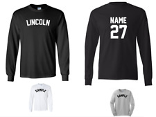 City of Lincoln Custom Personalized Name & Number Long Sleeve Jersey T-shirt