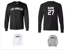City Los Angeles Custom Personalized Name & Number Long Sleeve Jersey T-shirt