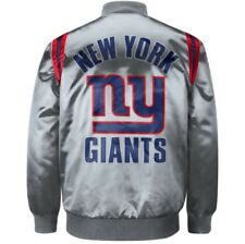 Exclusive: Authentic New York Giants Starter NFL satin  jacket - Gray