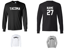 City of Tacoma Custom Personalized Name & Number Long Sleeve Jersey T-shirt