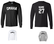 City of Omaha Custom Personalized Name & Number Long Sleeve Jersey T-shirt