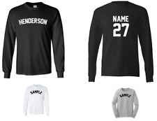 City of Henderson Custom Personalized Name & Number Long Sleeve Jersey T-shirt