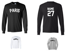 City of Paris Custom Personalized Name & Number Long Sleeve Jersey T-shirt