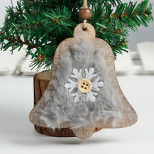 Wooden Christmas Tree Ornaments Bell Boots Hanging Decorations Pendant Decor