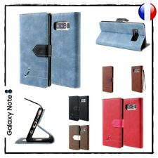 Etui porte-carte coque housse Cuir PU Wallet Cover case Samsung Galaxy Note 8