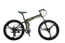 "Folding Mountain Bike 26"" SHimano 21 Speed Full Suspension Bicycle MTB Magwheel"