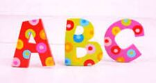 Big jigs wooden letters decorating childrens rooms