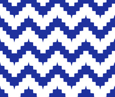 Blue Chevron Zig Zag Upholstery Home Decor Fabric Printed by Spoonflower BTY