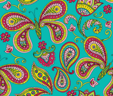 Butterfly Butterfly Paisley Fabric Printed by Spoonflower BTY