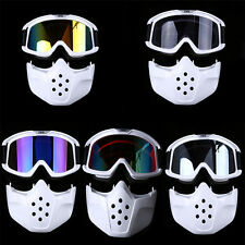 Outdoor Ski Motorcycle MX Full Face Mask Goggles Off-Road Riding Glasses Eyewear