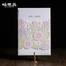 Floral Wedding Invitations Set Custom Bridal Invitation Cut Laser Birthday Party