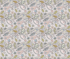 Pastel Colours Paisley butterfly garden - grey Fabric Printed by Spoonflower BTY
