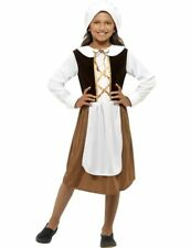 Child Medieval Tudor Girl Poor Maid Book Week Outfit Fancy Dress Costume