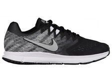 NEW MENS NIKE AIR ZOOM SPAN 2 RUNNING SHOES TRAINERS BLACK / METALLIC SILVER