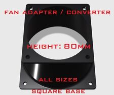 fan adapter converter Multi-choice 80mm height square change mounting mod custom