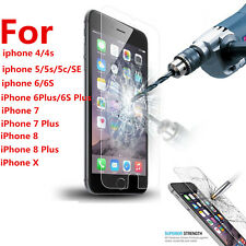 Screen Protector Tempered Glass Protective Film Guard For iPhone 5 6 7 7plus 8 X
