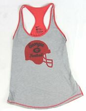 Nike - Licensed UGA Georgia Football Gray/Red Tank Top - Women's Large-XL