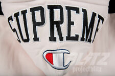 SUPREME / CHAMPION ARC LOGO ZIP UP SWEATSHIRT LIGHT PINK S M L XL FW17 HOODIE