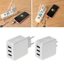 USB 3-Ports Fast Charge 5V/3.1A Travel Wall AC Power Adapter Charger US/EU Plug