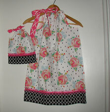 Dolly and me Matching American girl doll dress Shabby Rose pillowcase dress
