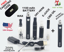 1100mAh-4-in-1-Vaporizer1 kit-Wax-Dab-Dry Herb1-E-oil-CBD-Oil-Vape1 G-Pen