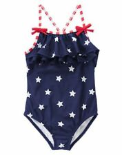 NWT Gymboree Swimsuit 4th July Blue Star Spangled Summer 5 6 8 10 12  Girl