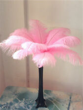 10-200 pcs high-quality natural ostrich feathers 6-24 inch/15-60cm Pink