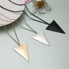 New Fashion  Triangle Long Necklaces & Pendants Women Link Chain Geometric Neckl