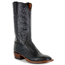 Lucchese Men's Black Ostrich Leg Exotic Boot - C1018W8