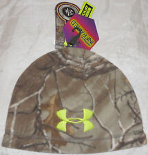 Under Armour Mens Infrared ColdGear Beanie Scent Control Mossy Oak Camo Hunting