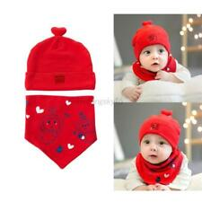 Baby Kids Boy Girl Cartoon Cute Hat Cap+Saliva Towel Triangle Head Scarf Set New