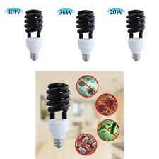 E27 220V 365nm Sprial Shape UV Ultraviolet Blacklight Lamp Light Bulb Disinfect