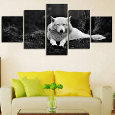 Animal Wolf Paintings Poster Modern Abstract Picture Canvas Wall Art Home Decor