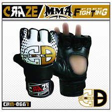 CRAZE Rex Leather MMA UFC Grappling Gloves Fight Boxing Punch Bag Training