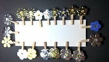 Mini Wooden Clothes Pegs Stars Hearts Flowers Craft Shabby Chic Embelishment