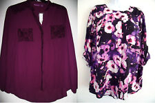 Women Blouses Top Plus 1X 2X  Beverly Drive Retails $40 - $48 NEW