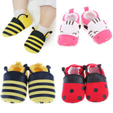 Cotton Crib Shoes Crawler Trainers Baby Boys Girls Soft Sole Slip On NEW