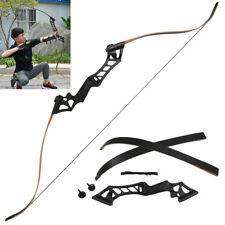 Traditional 60'' Metal Recurve Bow Outdoor Hunting Longbow Shooting Archery