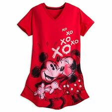 NWT Disney Store Mickey and Minnie Mouse Nightshirt Nightgown Women Ladies