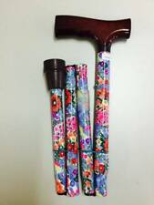 NEW Folding Floral Walking Stick Home Health Care Equipment