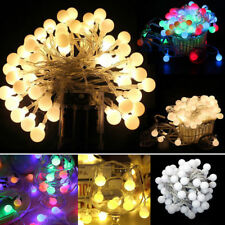 Fairy LED String Lights Christmas Round Ball Blubs Wedding Party Lamp 10m 100led