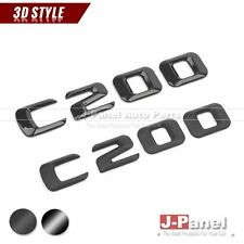BLACK C200 REAR 2014-ON NUMBER EMBLEM BADGE for MERCEDES BENZ C CLASS W204