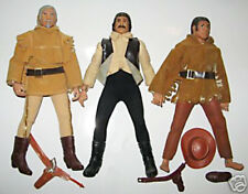 "1974 COWBOYS INDIANS 8"" mego doll - Crockett Earp Hickock Cochise CLOTHES BOOTS"
