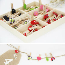 48pcs/set Wooden Mini Clip Pegs Paper Photo Craft Office Home Stationery-NEW